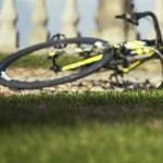 Bike on its side.