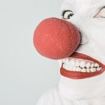 White face with clown nose; courtesy of gratisography.com